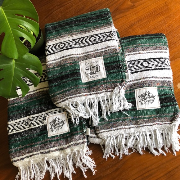 Green Mexican blanket